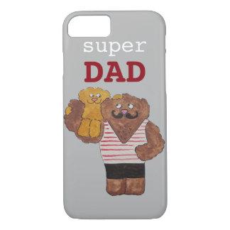 Custom Super Dad Circus Strongman Daddy iPhone 8/7 Case