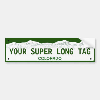Custom Super-wide Colorado License Plate Bumper Sticker