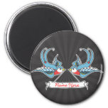 Custom Swallows 2 Inch Round Magnet