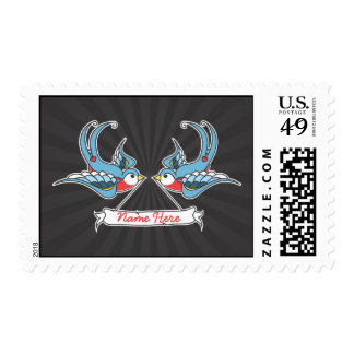 Custom Swallows Postage Stamp