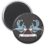 Custom Swallows Refrigerator Magnet