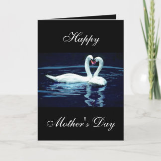 Custom Swan Mother's Day Card