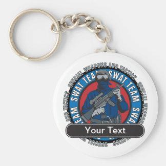 Custom SWAT Team Basic Round Button Keychain