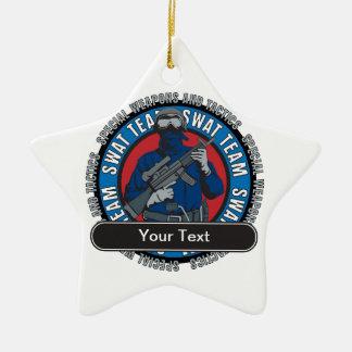 Custom SWAT Team Ceramic Ornament