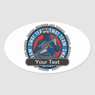 Custom SWAT Team Oval Sticker