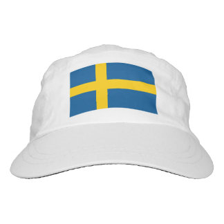 Custom Swedish flag knit and woven sports hats Headsweats Hat