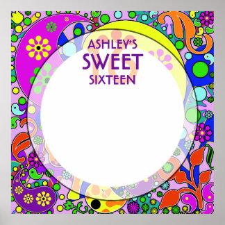 Custom Sweet 16 Birthday Party Keepsake Autograph Poster