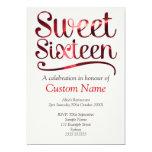 Custom Sweet 16 Custom Invitations