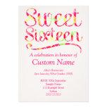 Custom Sweet 16 Custom Invites