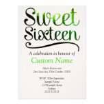Custom Sweet 16 Personalized Invitation