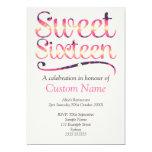 Custom Sweet 16 Personalized Invitations