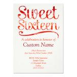 Custom Sweet 16 Personalized Invite