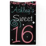 Custom Sweet 16 Photo Backdrop Banner