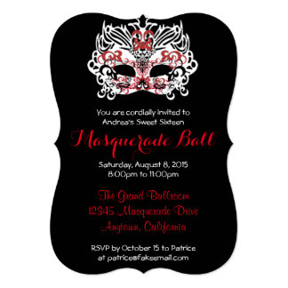 Sweet Sixteen Masquerade Ball Invitations & Announcements | Zazzle