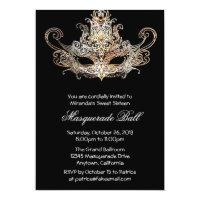 Custom Sweet Sixteen Masquerade Ball Invitations
