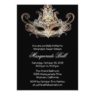 masquerade ball invitations zazzle