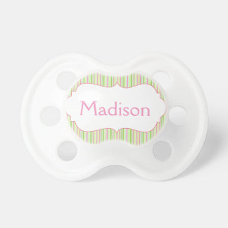 Custom Sweet Stripes Pacifier with Baby s Name