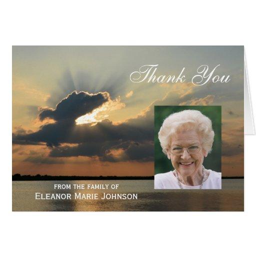Custom Sympathy Thank You Card with Photo