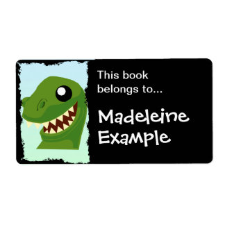 Custom T-Rex Booktag Label