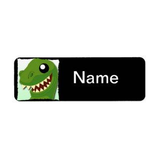 Custom T-Rex Name Label