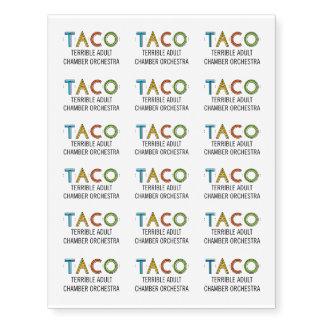 Custom TACO Small Temporary Tattoos