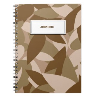 Custom Tag Name camouflage Spiral Note Books