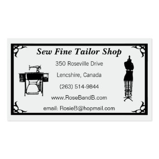 Custom Tailor / Seamstress Business Cards
