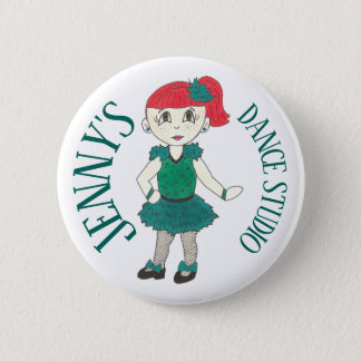 Custom Tap Dancer Dance Teacher Studio Recital Button