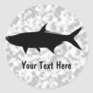Custom Tarpon template Classic Round Sticker