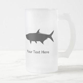 Custom Tarpon template Frosted Glass Beer Mug