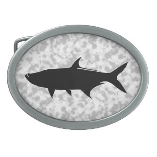 Custom Tarpon template Oval Belt Buckle