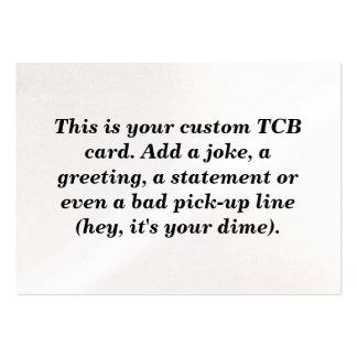 Custom TCB card. Business Card Template