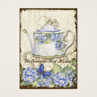 Custom Tea Coffee Shoppe Elegant Business Cards