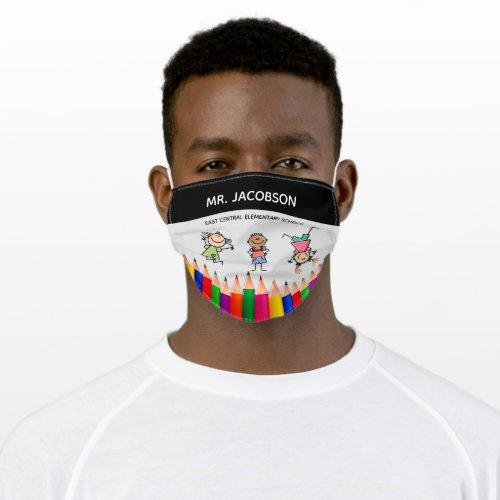 Custom Teacher Adult Cloth Face Mask