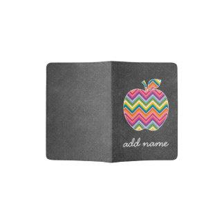 Custom Teacher Apple with Trendy Chevron Pattern Passport Holder