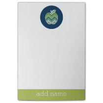 Custom Teacher Apple with Trendy Chevron Pattern Post-it Notes