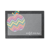 Custom Teacher Apple with Trendy Chevron Pattern Post-it Notes