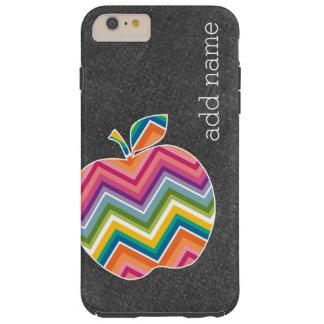 Custom Teacher Apple with Trendy Chevron Pattern Tough iPhone 6 Plus Case