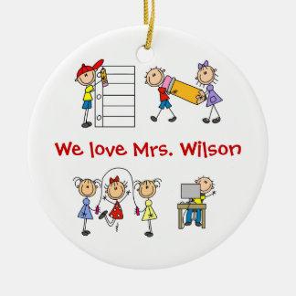 Custom Teacher Christmas Ornament