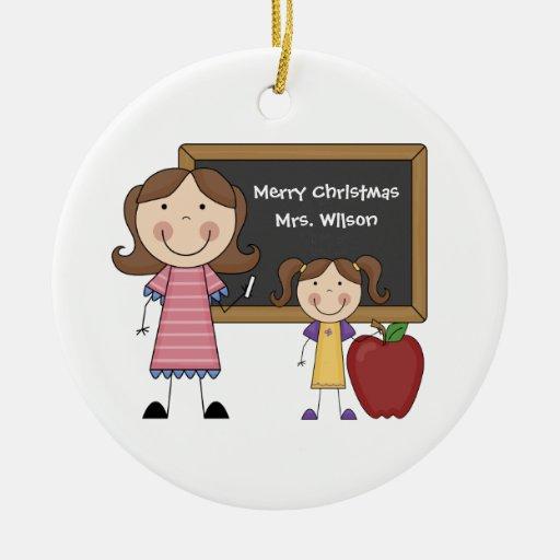 Custom Teacher Christmas Ornament