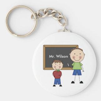 Custom Teacher Gift Basic Round Button Keychain