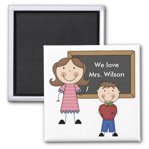 Custom Teacher Gift Fridge Magnets