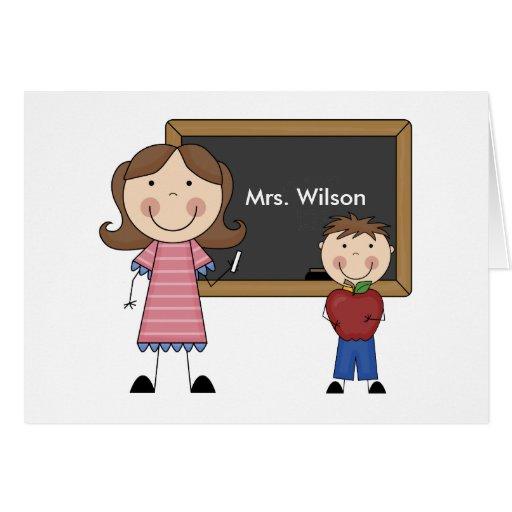 Custom Teacher Gift Greeting Card