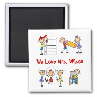 Custom Teacher Gift Fridge Magnet