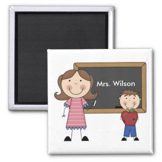 Custom Teacher Gift 2 Inch Square Magnet