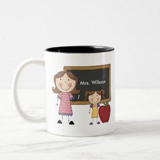 Custom Teacher Gift Two-Tone Coffee Mug