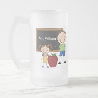 Custom Teacher Gift 16 Oz Frosted Glass Beer Mug