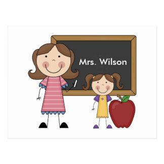 Custom Teacher Gift Postcard