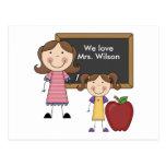Custom Teacher Gift Postcards