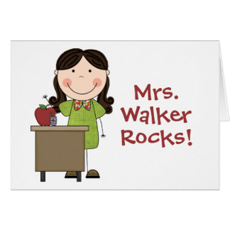 Custom Teacher Greeting Card